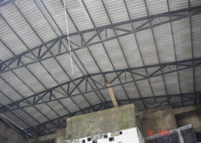 Cobertura em estrutura metálica 25 m de vão livre